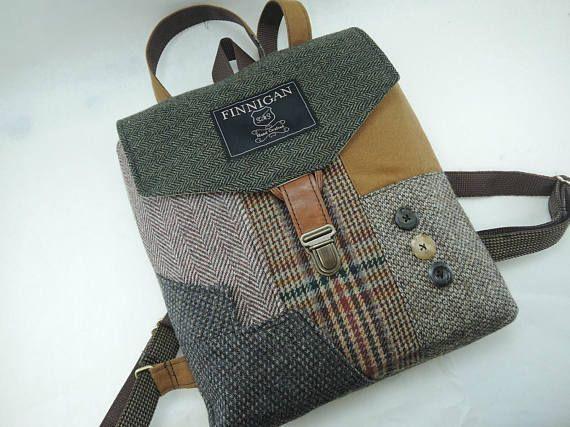 Backpack Recycled Backpack  bag Mens Backpack Womens backpack