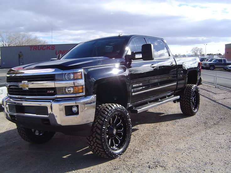 "2015 Chevy Silverado 2500HD Z71 4x4 with a Rough Country 7.5"" Lift and ..."
