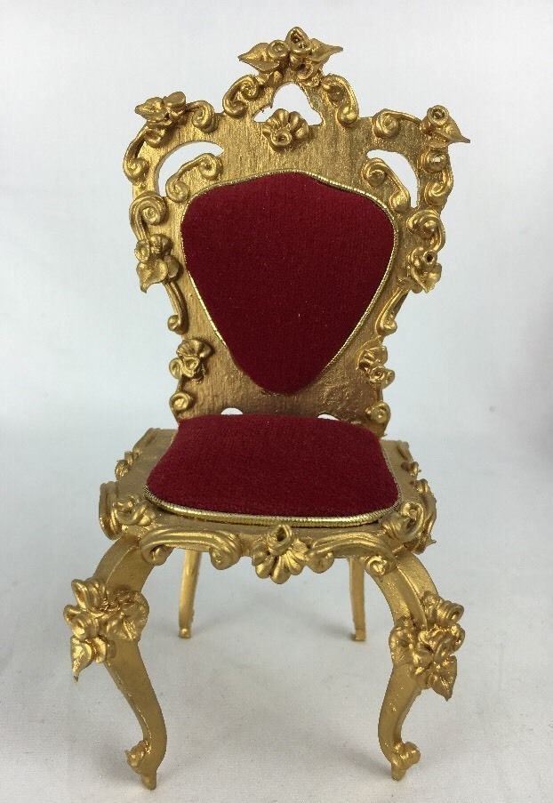 Spielwaren Dollhouse Miniature Red Velvet Heart Armless Chair Boutique Szalasi | eBay