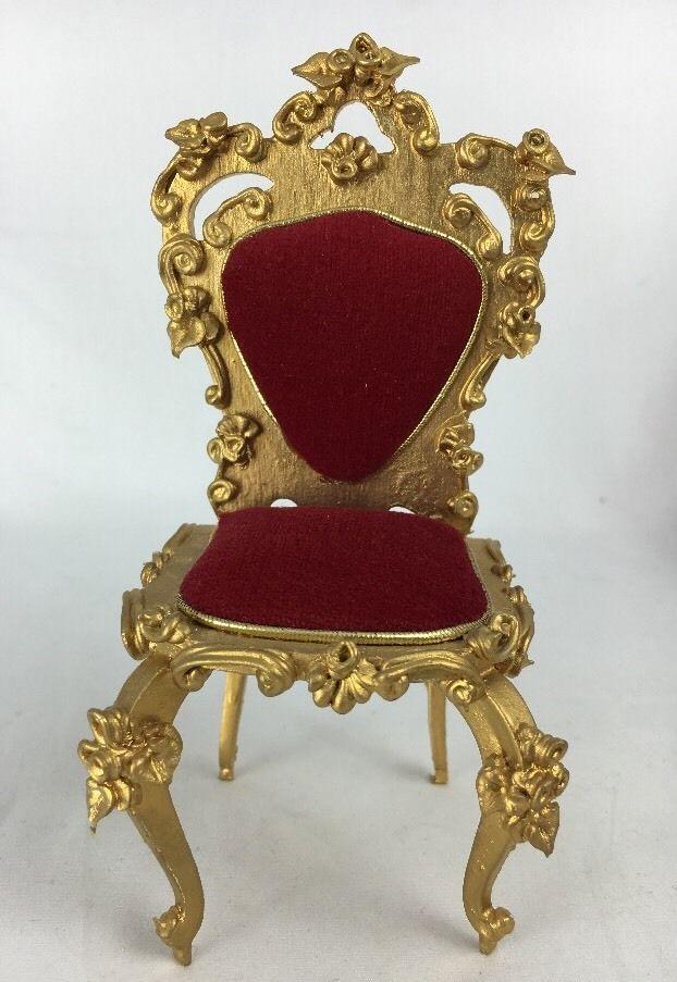 Spielwaren Dollhouse Miniature Red Velvet Heart Armless Chair Boutique Szalasi | eBay