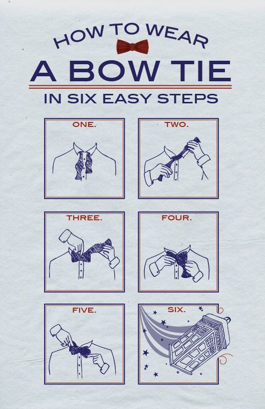 How to tie a bow tie like Doctor Who: Timey Wimey, Bow Ties, Doctor Who, Bowties, Bows, Dr. Who, Wear