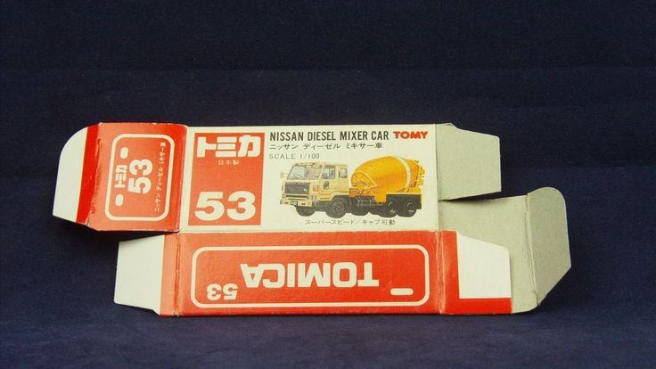 TOMICA 053B NISSAN DIESEL MIXER   1/100   ORIGINAL BOX ONLY   1984-1993 JAPAN