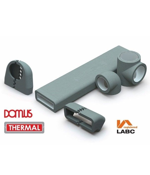 Polypipe Ventilation has announced that its unique Domus Thermal duct insulation range is being extended to cover its 220x90mm Megaduct Rigid Duct System.