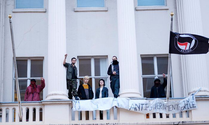 Squatters turn oligarch's empty London property into homeless shelter | UK news | The Guardian