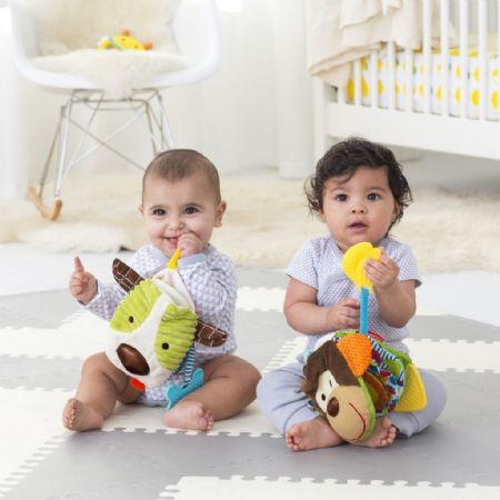 Skip Hop Bandana Buddies Baby Puppet Book in Monkey - Toys - Canada's Baby Store