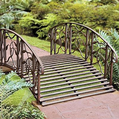 4u0027 Metal Garden Bridge