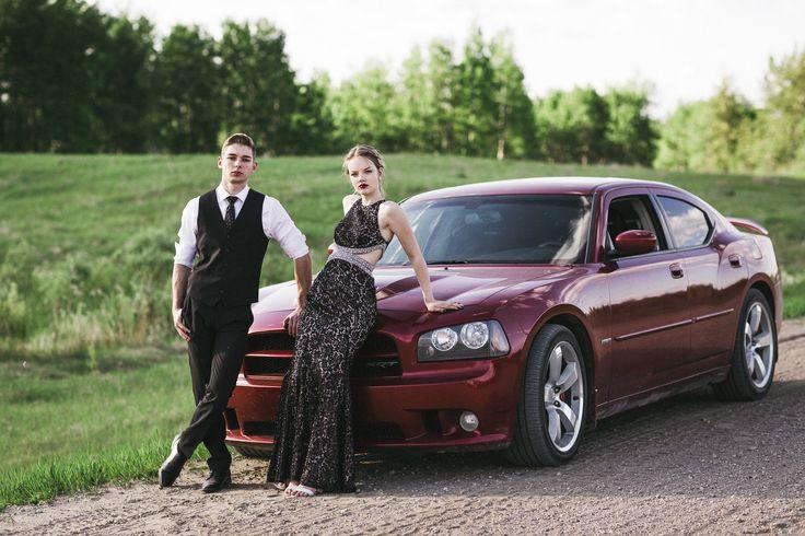 Maddy + Ty's Graduation Couple Session / Edson Alberta / Jordan Conarroe Originals / Dodge Charger Photoshoot / Couple Graduation Photoshoot / Senior Photographer
