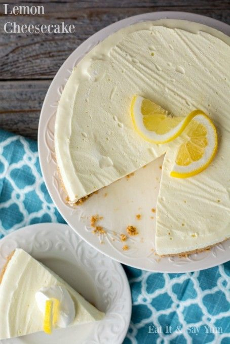 No bake Lemon Cheesecake- you can serve this dessert all Spring and Summer 365