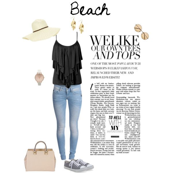 Beach by michellewl on Polyvore featuring Aéropostale, Victoria Beckham, Topshop, Red Herring, Beach Collection and River Island