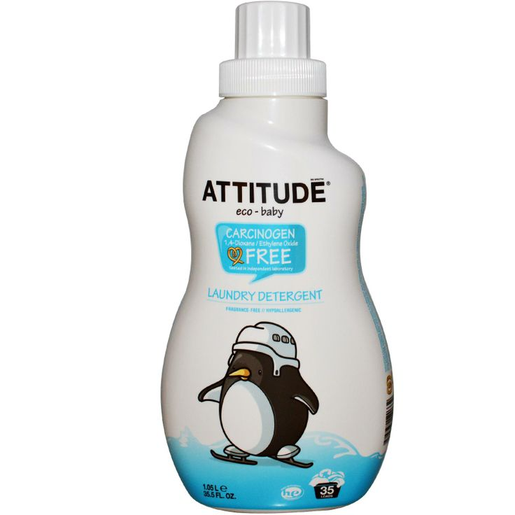ATTITUDE, Eco-Baby, Laundry Detergent, Fragrance-Free, 35.5 fl oz (1.05 l)