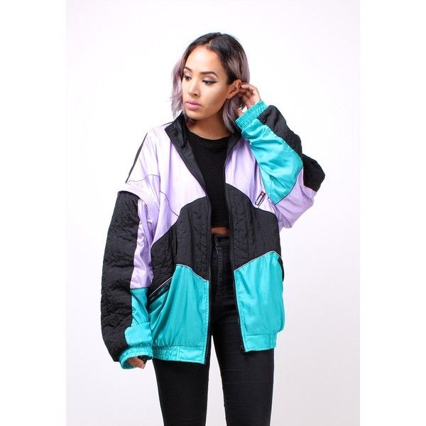 90s Vintage Oversized ELLESSE Sports Bomber Jacket 134ST31 found on Polyvore featuring polyvore, women's fashion, clothing, outerwear, jackets, boyfriend jacket, fitted jacket, zip bomber jacket, ellesse jacket and oversized jackets