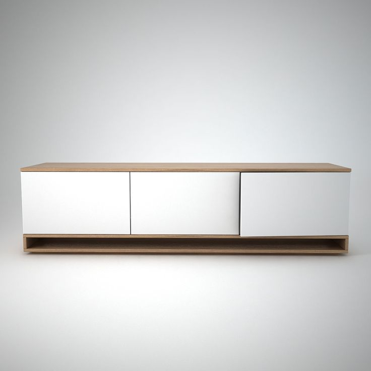 CONTEMPORARY SIDEBOARD | White and oak low sideboard | bocadolobo.com/ #modernsideboard #sideboardideas