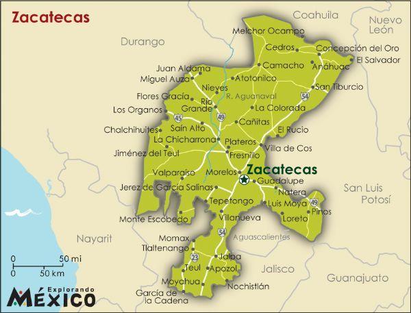 Salinas Mexico Map.En Zacatecas Hay Variousas Cosas Importante Del Paisaje La Sierra