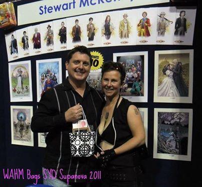 The very first WAHM Bag was gifted to Aussie Artist, Stewart McKenny, in 2011. Made by Nikki of Shenanigans.
