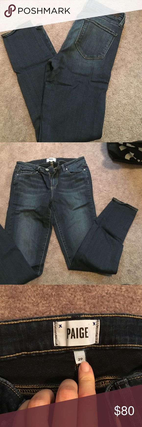 """Paige verdugo ankle jeans Paige premium denim verdugo ankle skinny jeans worn once. In """"Nottingham"""" color Paige Jeans Jeans Skinny"""