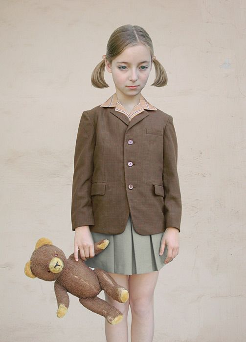 Loretta Lux. Girl with a Teddy Bear Ilfochrome Print 2001