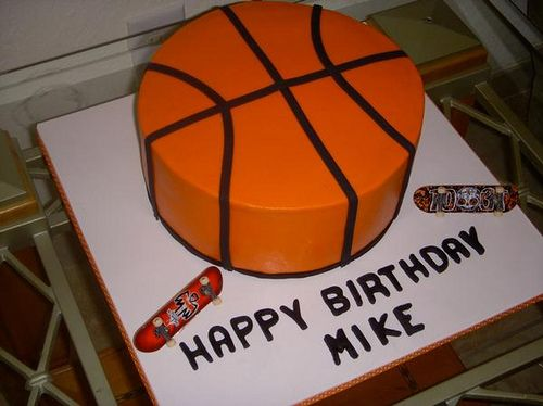Basketball Cake, via Flickr.