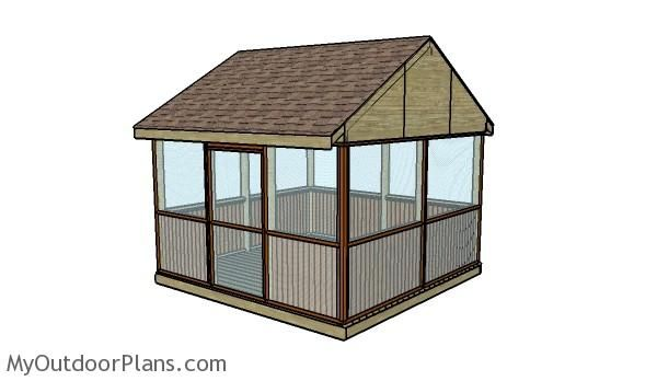 Screened Gazebo Plans | MyOutdoorPlans | Free Woodworking Plans and Projects, DIY Shed, Wooden Playhouse, Pergola, Bbq