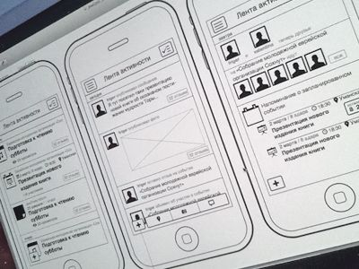 iPhone App Wireframes