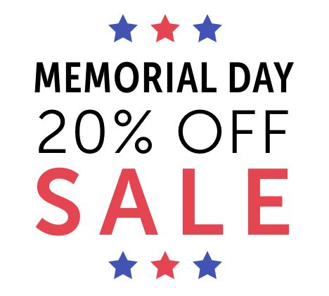 Memorial Day Sale - use code memorialday20 at checkout