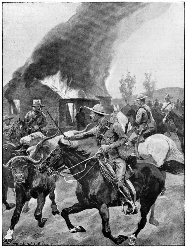 The Boer War (1899-1902) was fought between the British and the Boers (Dutch settlers) in South Africa. The Boers, who were terribly outnumbered, used guerrilla tactics to outwit the British; however, in the end, the Boers lost and their two republics became absorbed by the British into South Africa. Learn more about the Boer War.