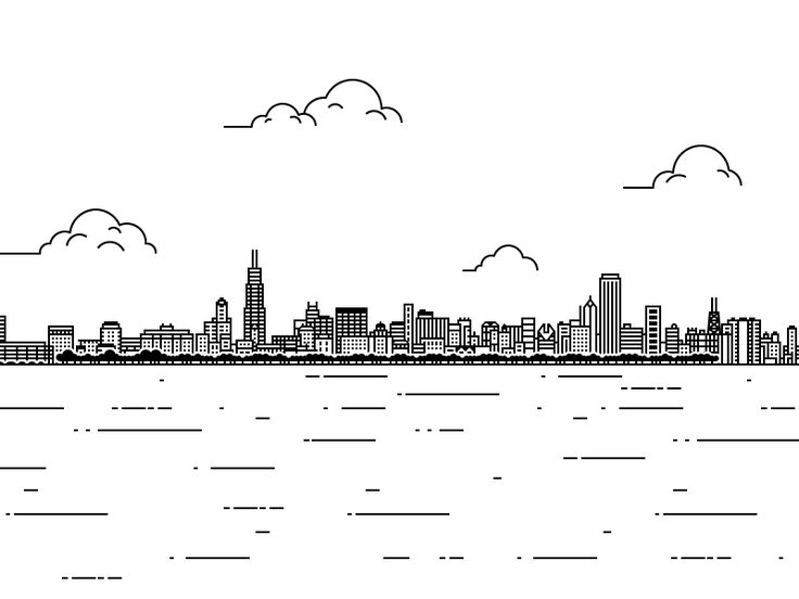 Chicago Print by Jake Fleming