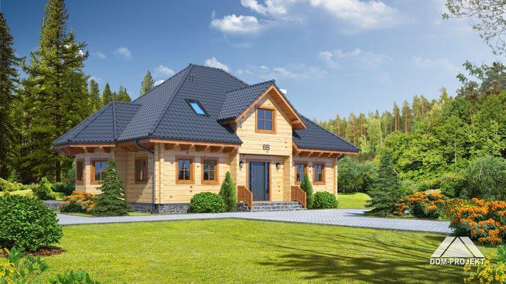 Projekt domu z bali Zagórze http://domywdrewnie.pl/dom-z-bali-20-cm-zagorzyn-p-u-18800dom-z-bali/