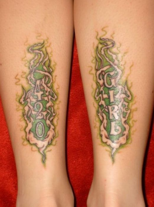 10 best images about tattoos on pinterest around the for Weed tattoo images