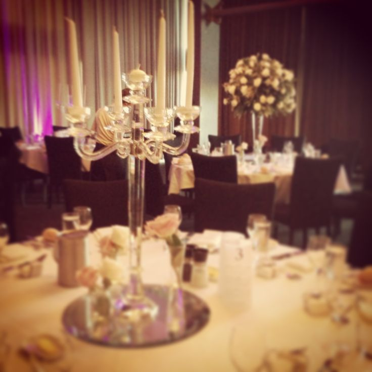 Our stunning glass candelabras!