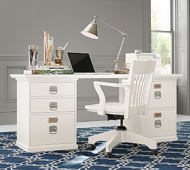 Bedford Rectangular Desk Set #potterybarn