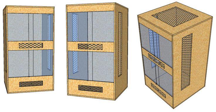 Bau eines Chamäleon-Terrariums: Erste Planungen
