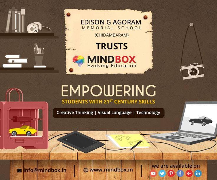 Edison G Agoram Memorial School Trusts MINDBOX To be the Technology Partner for Imparting Creative Education.