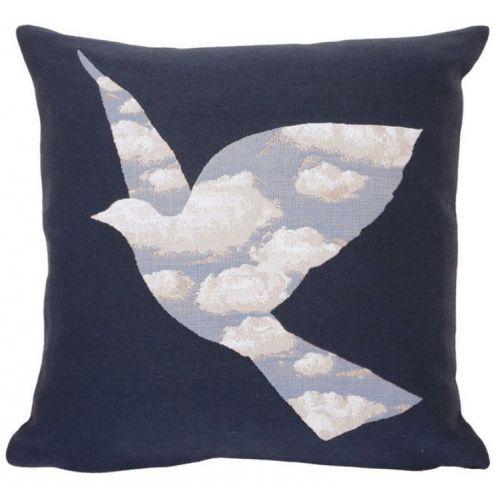 Jolie #housse de #coussin #bleue inspirée de l'Oiseau de Ciel de #Magritte  #art #oiseau #ciel