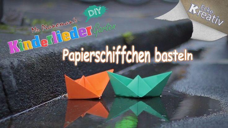 Papierschiff falten • Basteln mit Kindern • Einfaches Origami Boot • Bas...