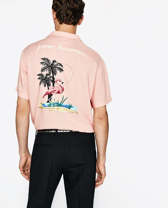 Image 5 of EMBROIDERED BOWLING SHIRT from Zara