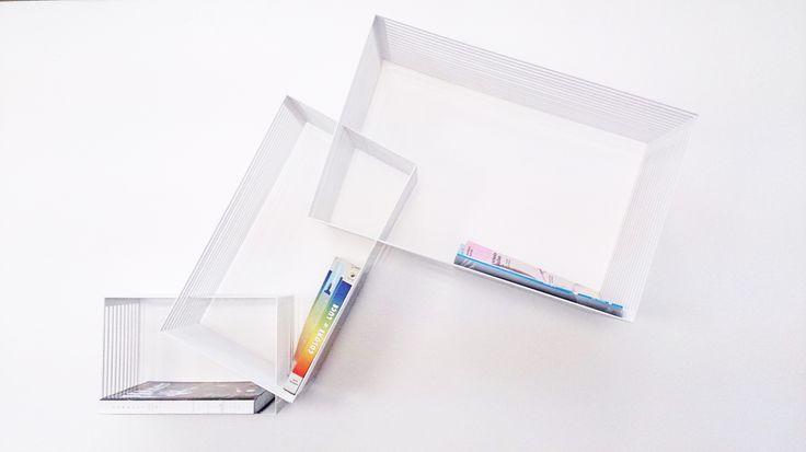 Aura \\ Liberia contenitore modulare metallo taglio laser Colour : white \ metal