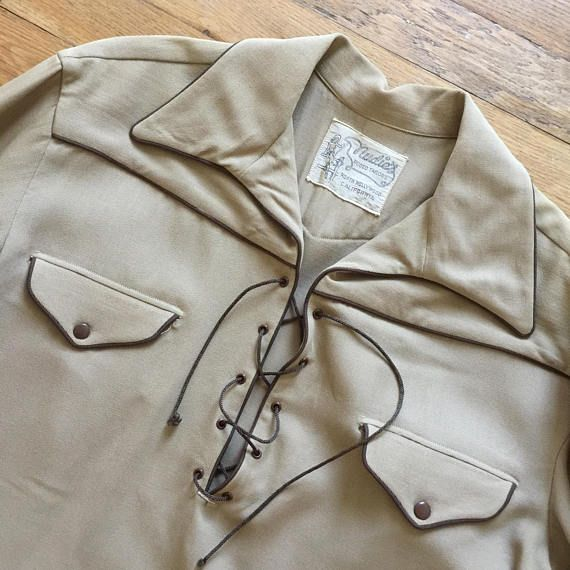 RARE Western shirt NUDIE for Tex Williams, 1940s wool