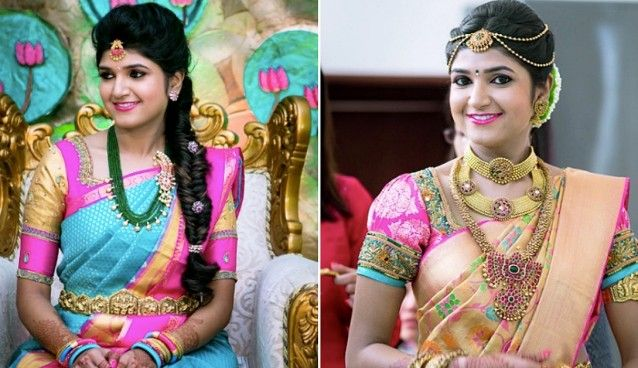 South Indian Bridal Makeup Images for Reception  #Bridalmakeup