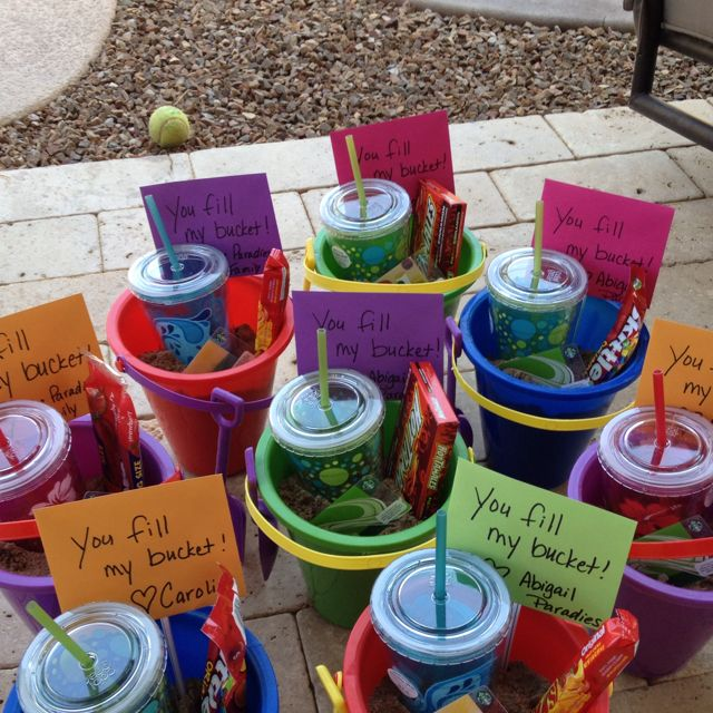 End of year teacher gifts - You Fill My Bucket