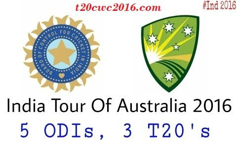 India vs Australia ODI Series Schedule 2016, India vs Australia T20 Series Schedule 2016, Indian team for Ind vs Aus ODI series, Indian team for Ind vs Aus T20 Series,