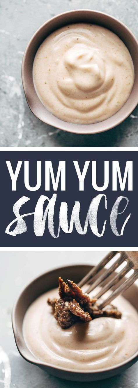 Yum Yum Sauce! just like the sauce from Japanese hibachi restaurants - and it's SO EASY. Perfect with grilled chicken, steak, veggies, rice bowls, wraps, and more. | http://pinchofyum.com