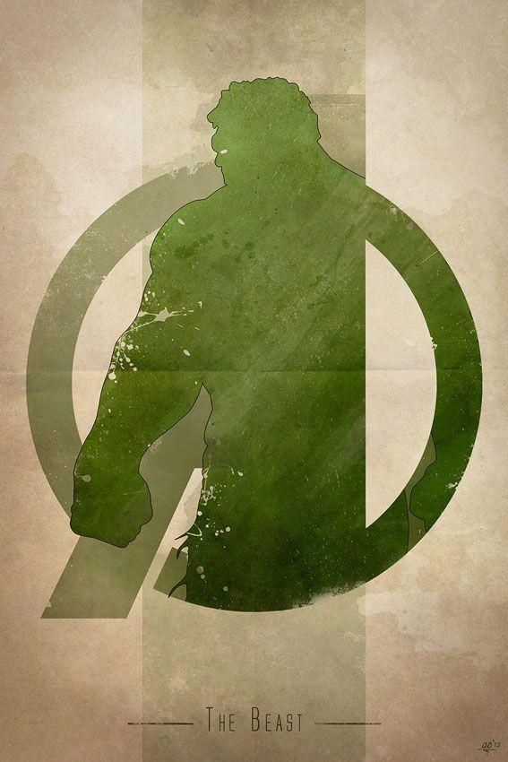 AVENGERS Character Logo Art by Anthony Genuardi