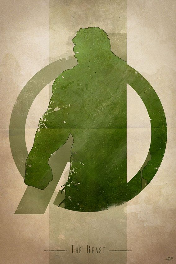 AVENGERS Character Logo Art — The Beast