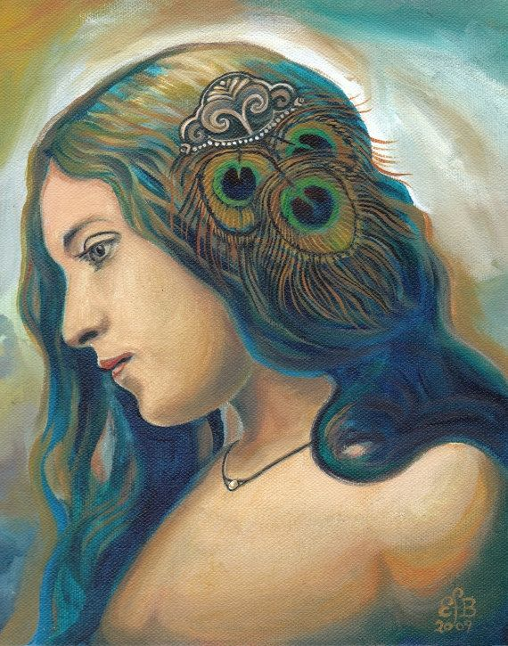 Eidyia Ocean Goddess Mermaid Portrait Fine Art by EmilyBalivet