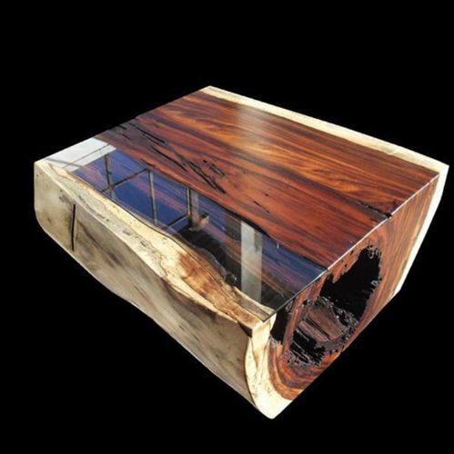 Unique hand-made wood table