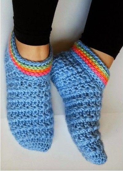 20 padrões de chinelo de crochê grátis que são perfeitos para o outono