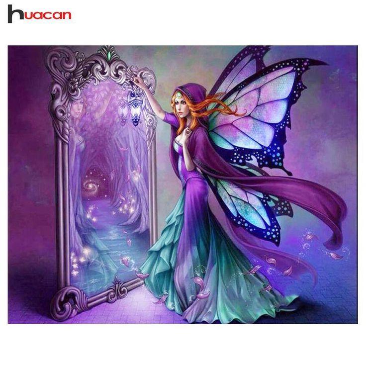 5d diamond painting fairy reflection kit in 2020