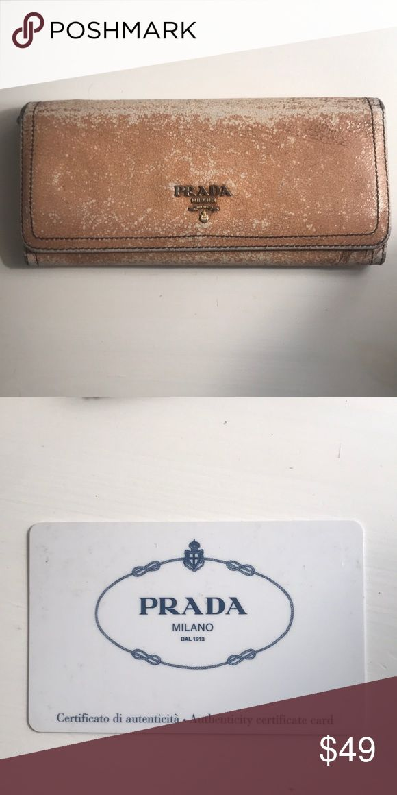 AUTHENTIC PRADA WALLET Purchased in Italy at Prada outlet Has been loved for years  Great wallet! Prada Bags Wallets