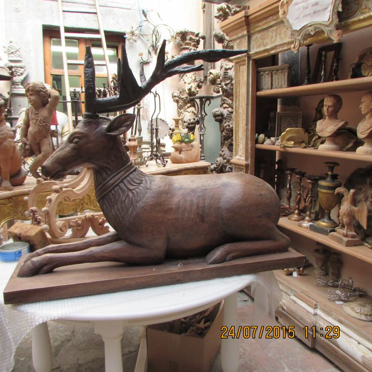inside the work shop  -a  Amazing  Deer!!