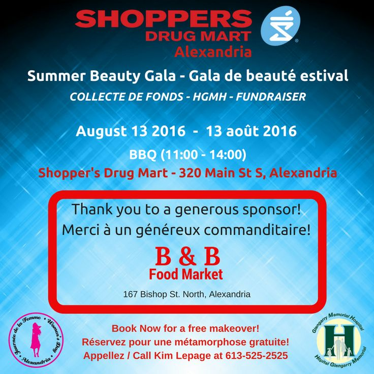 Join us for a great cause this Saturday. Venez nous voir ce samedi. Merci B&B Food Market!